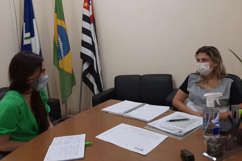 Vereadora Tatiane Lopes se reúne com nova secretária de Meio Ambiente